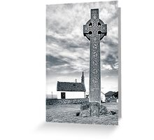 Contrasts - North Berwick Celtic Cross Greeting Card