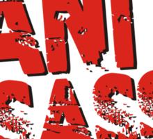 Sanity Assassin Red Sticker