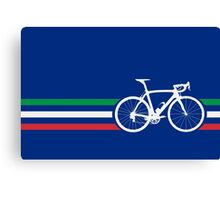 Bike Stripes Italian National Road Race v2 Canvas Print