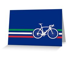 Bike Stripes Italian National Road Race v2 Greeting Card