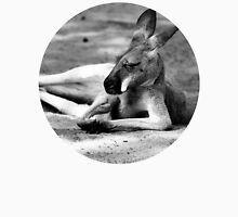 Sleeping Kangaroo Black and White Unisex T-Shirt