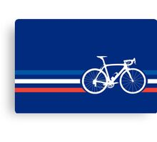 Bike Stripes French National Road Race v2 Canvas Print