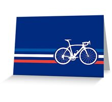 Bike Stripes French National Road Race v2 Greeting Card