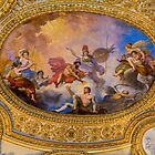Ceiling Painting, Louvre, Paris, France by Elaine Teague