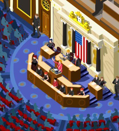 Election US Congress Hall Sticker