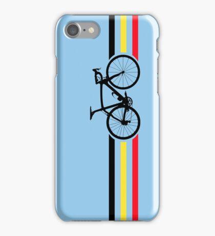 Bike Stripes Belgian National Road Race v2 iPhone Case/Skin