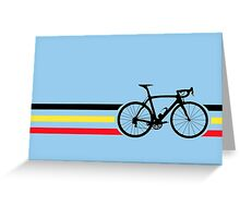 Bike Stripes Belgian National Road Race v2 Greeting Card