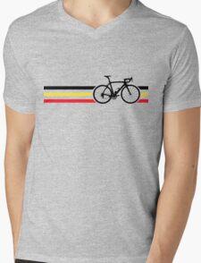 Bike Stripes Belgian National Road Race v2 Mens V-Neck T-Shirt