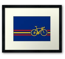 Bike Stripes Spanish National Road Race v2 Framed Print