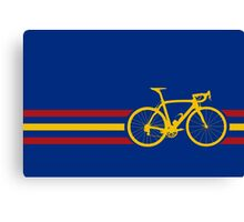 Bike Stripes Spanish National Road Race v2 Canvas Print