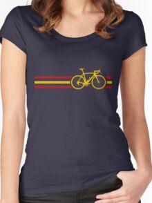 Bike Stripes Spanish National Road Race v2 Women's Fitted Scoop T-Shirt