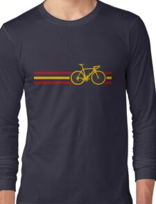 Bike Stripes Spanish National Road Race v2 Long Sleeve T-Shirt