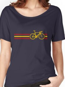 Bike Stripes Spanish National Road Race v2 Women's Relaxed Fit T-Shirt