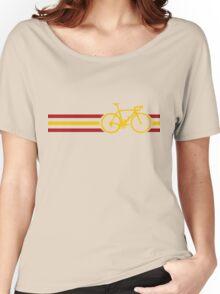Bike Stripes Spanish National Road Race v2 Women's Relaxed Fit T-Shirt