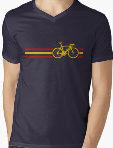 Bike Stripes Spanish National Road Race v2 Mens V-Neck T-Shirt