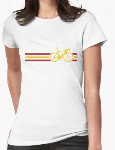 Bike Stripes Spanish National Road Race v2 Womens Fitted T-Shirt