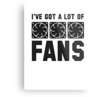 I've Got A Lot Of Fans Metal Print