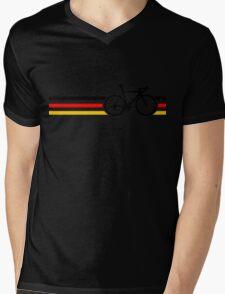 Bike Stripes German National Road Race v2 Mens V-Neck T-Shirt