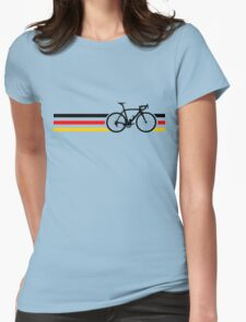 Bike Stripes German National Road Race v2 Womens Fitted T-Shirt