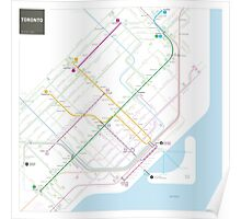 Toronto Metro and Bus map Poster