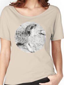 Monochrome Suricate Women's Relaxed Fit T-Shirt