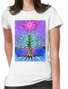 Electric Tree Womens Fitted T-Shirt