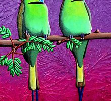 Green Bee-Eaters by Laural Retz Studio
