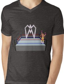 Ultimate Warrior pyro wrestling ring Mens V-Neck T-Shirt