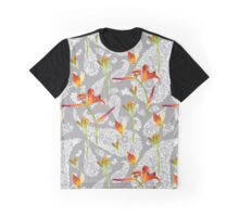 orange lilies and paisley pattern Graphic T-Shirt