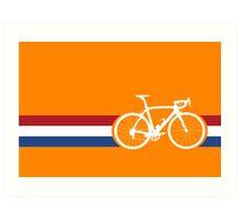 Bike Stripes Netherlands National Road Race Art Print