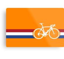 Bike Stripes Netherlands National Road Race Metal Print