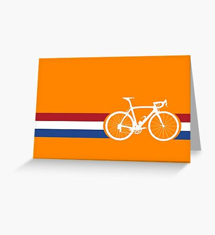 Bike Stripes Netherlands National Road Race Greeting Card