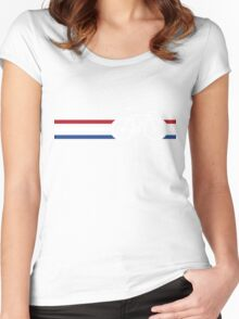 Bike Stripes Netherlands National Road Race v2 Women's Fitted Scoop T-Shirt