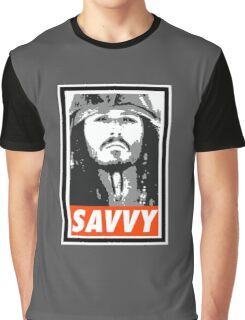 Savvy - Obey Style Graphic T-Shirt