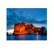 Edinburgh Castle at Dusk Art Print
