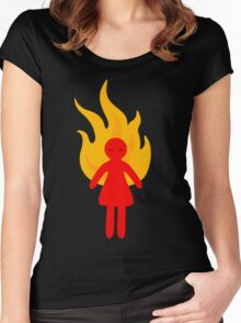 Angry Girl Women's Fitted Scoop T-Shirt