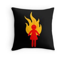 Angry Girl Throw Pillow