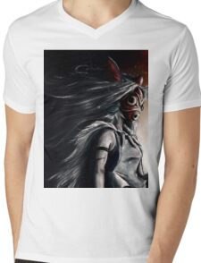 Princess Mononoke  Mens V-Neck T-Shirt