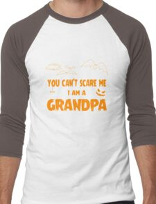 You Can't Scare Me I Am A Grandpa Halloween Party Men's Baseball ¾ T-Shirt