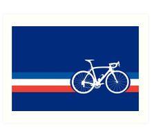 Bike Stripes French National Road Race Art Print