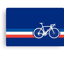 Bike Stripes French National Road Race Canvas Print