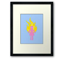 Angry Pastel Girl Framed Print