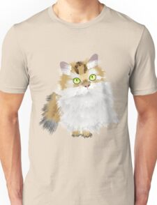 Cute Fluffy Cat Unisex T-Shirt