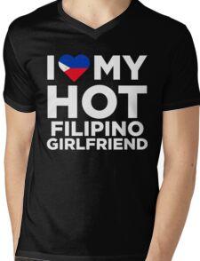 I Love My Hot Filipino Girlfriend Mens V-Neck T-Shirt