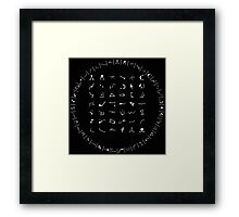 Gate Symbols Framed Print