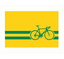 Bike Stripes Australian National Road Race Art Print