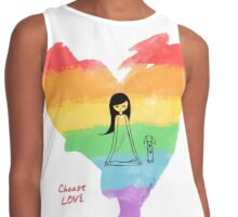 Choose Love Contrast Tank