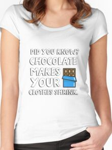 Did you know? Chocolate makes your clothes shrink! Women's Fitted Scoop T-Shirt