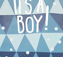 It's A Boy! Greetings Card by Claire Stamper