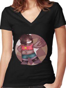 Steven Universe - Smoky Quartz Women's Fitted V-Neck T-Shirt